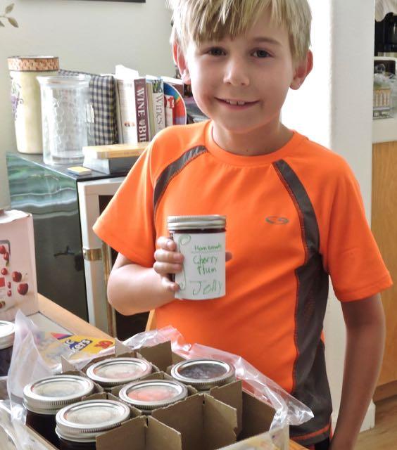 kitchen grandson adrian labels cherry plum jars - 1
